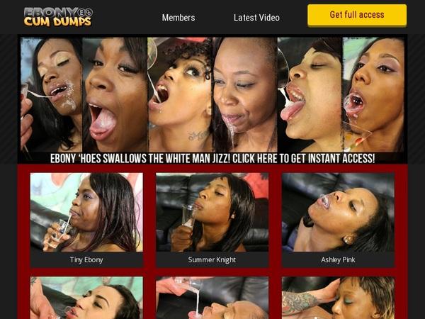 Free Ebony Cum Dumps Account New